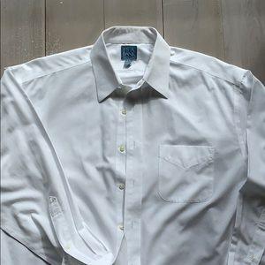 Men's White French Cuff Dress Shirt 16-33